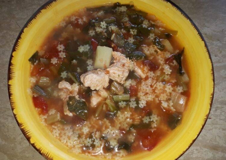 minestrone pollo e verdure