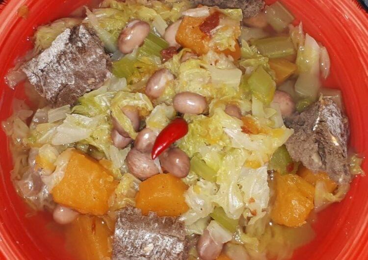 zuppa minestra verza zucca fagioli