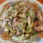 fettuccine zucchine e gamberetti