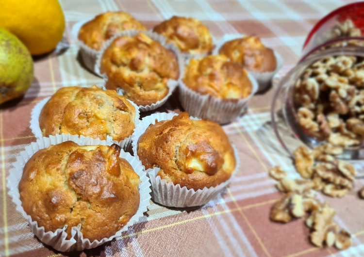 muffin mele e noci